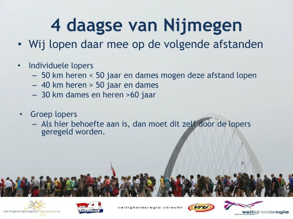4+daagse+van+Nijmegen+Wij+lopen+daar+mee+op+de+volgende+afstanden